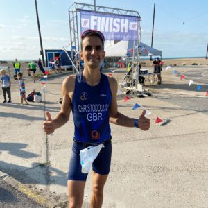 Read more about the article Yiannis Christodoulou Sets Course Record at Channel Sprint Triathlon