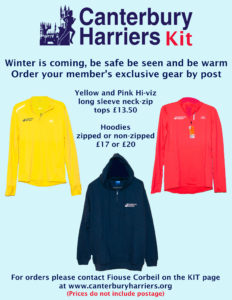 Read more about the article Canterbury Harriers – Ordering Club Kit during the Pandemic